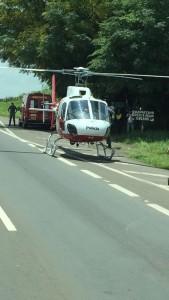 Grupamento Aéreo da Polícia Militar, auxiliou no socorro